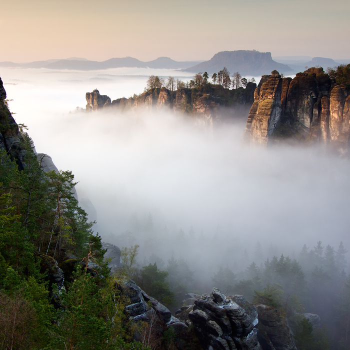 Bastei In the Mist
